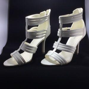 Spring white strappy heels size 37